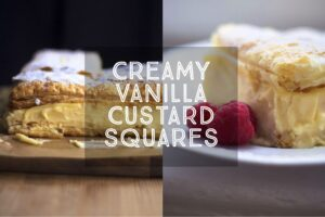 Creamy Vanilla Custard Squares