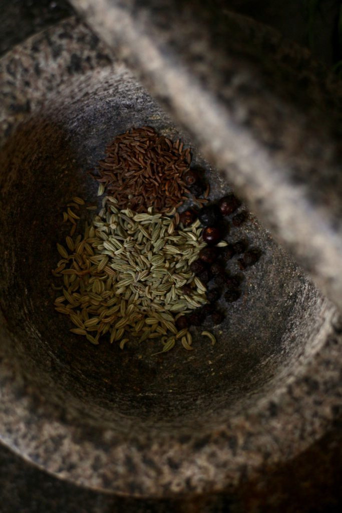 Herbs for curing Salmon