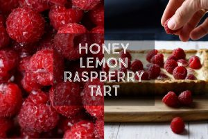 Honey Lemon Raspberry Tart