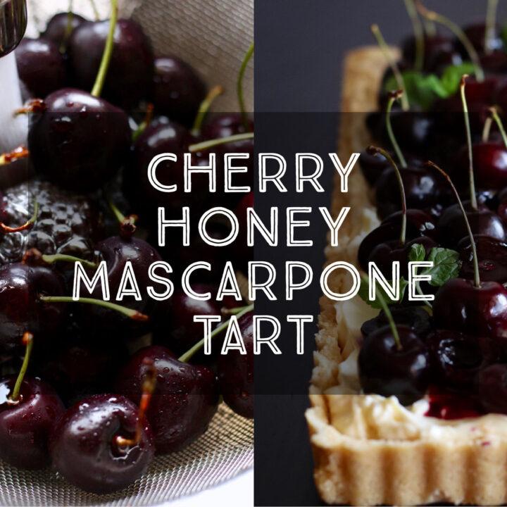 Cherry Honey Mascarpone Tart