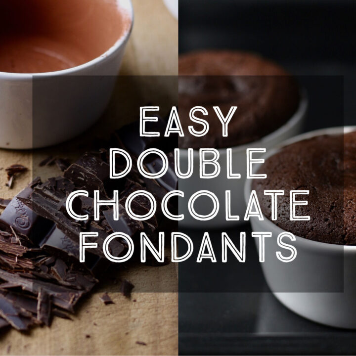 Easy Double Chocolate Fondants