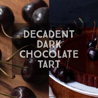 Decadent Dark Chocolate Tart