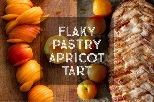 Flaky Pastry Apricot Tart