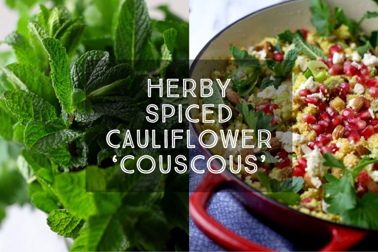 Herby Spiced Cauliflower Cous Cous