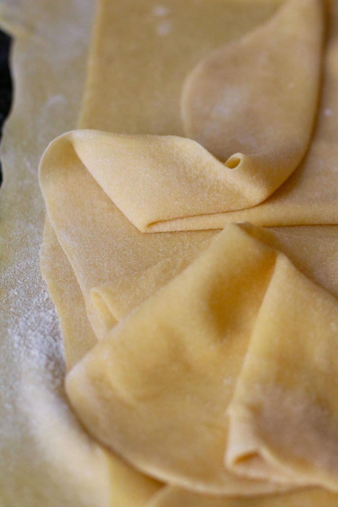 Home made pasta dough