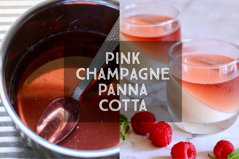 Pink Champagne Panna Cotta