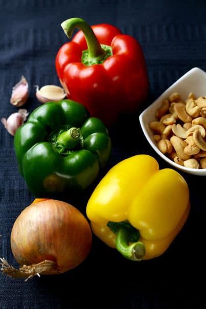 Ingredients for Spicy Cashew Nut Chicken