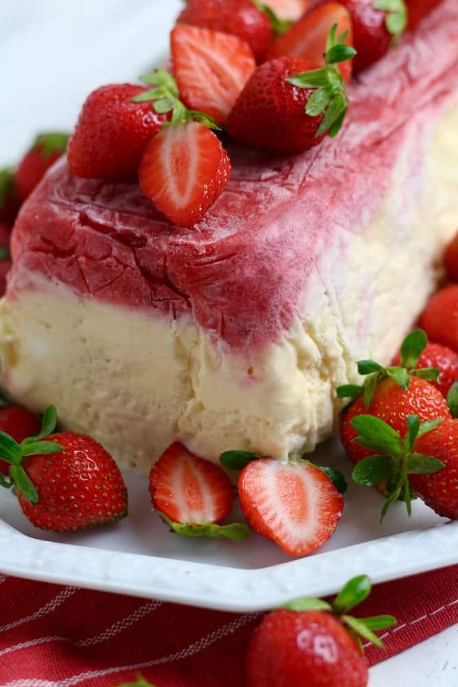 Strawberries for Strawberry Ripple Semifreddo