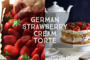 German Strawberry Cream Torte