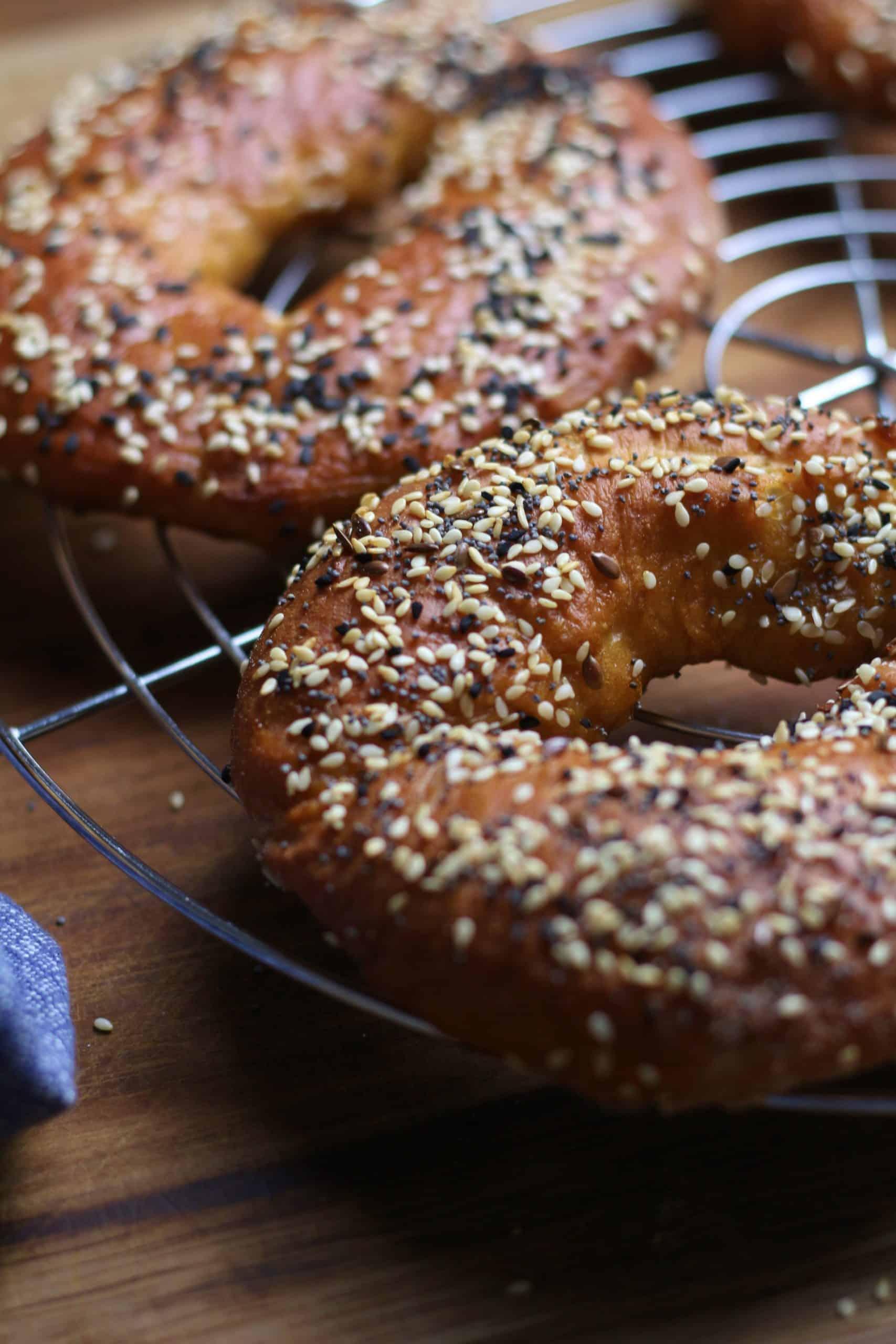 Grain and Sesame seed Bagels