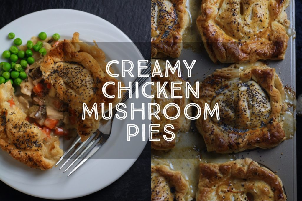 Creamy Chicken and Mushroom Pies