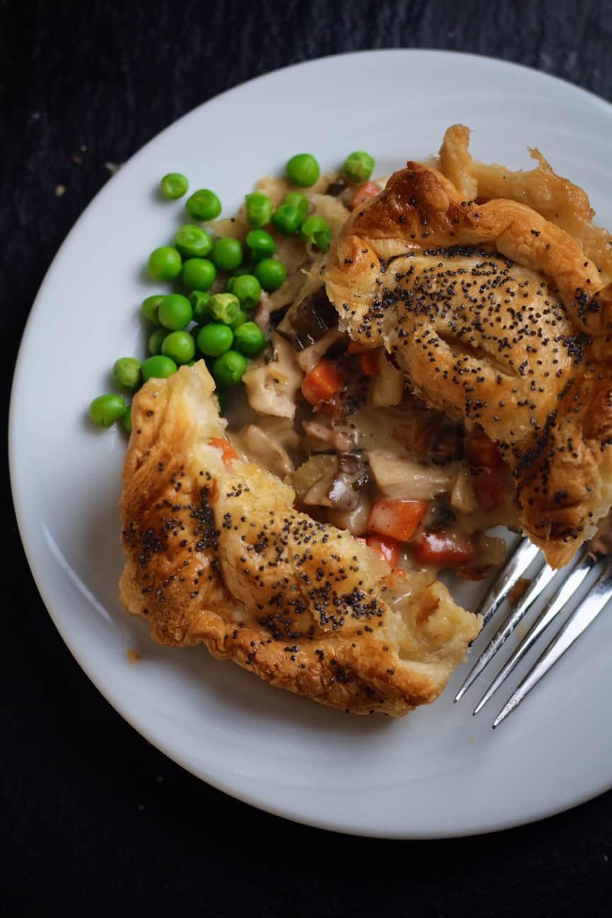 Creamy Chicken and Mushroom Pies