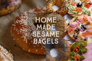 Homemade Sesame Bagels