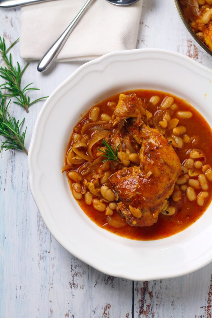 Braised Chicken and Beans
