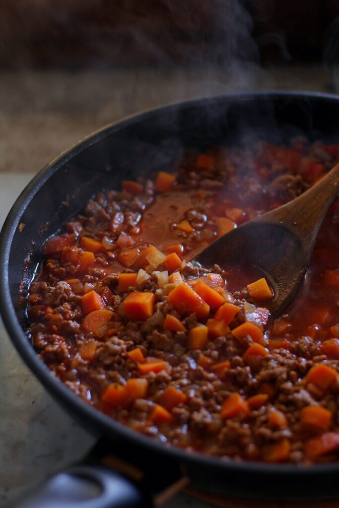 Beef and Lentil Cottage Pie Filling