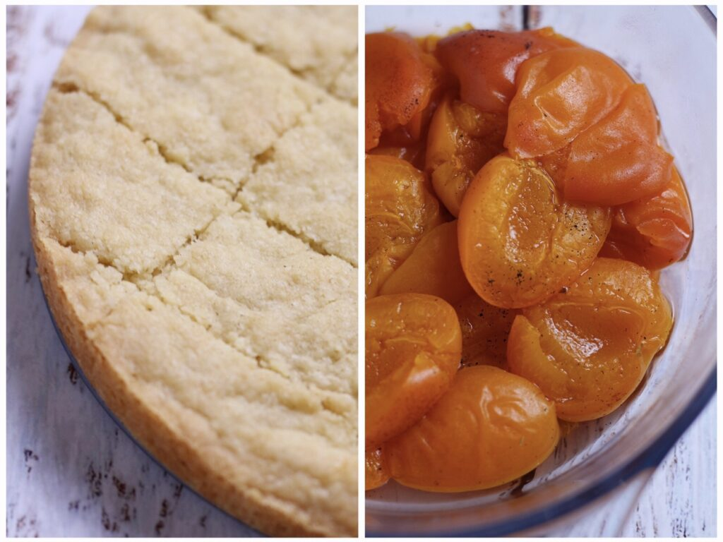 Rose Vanilla Poached Apricots