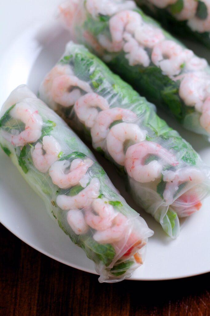Vietnamese Prawn Spring Rolls