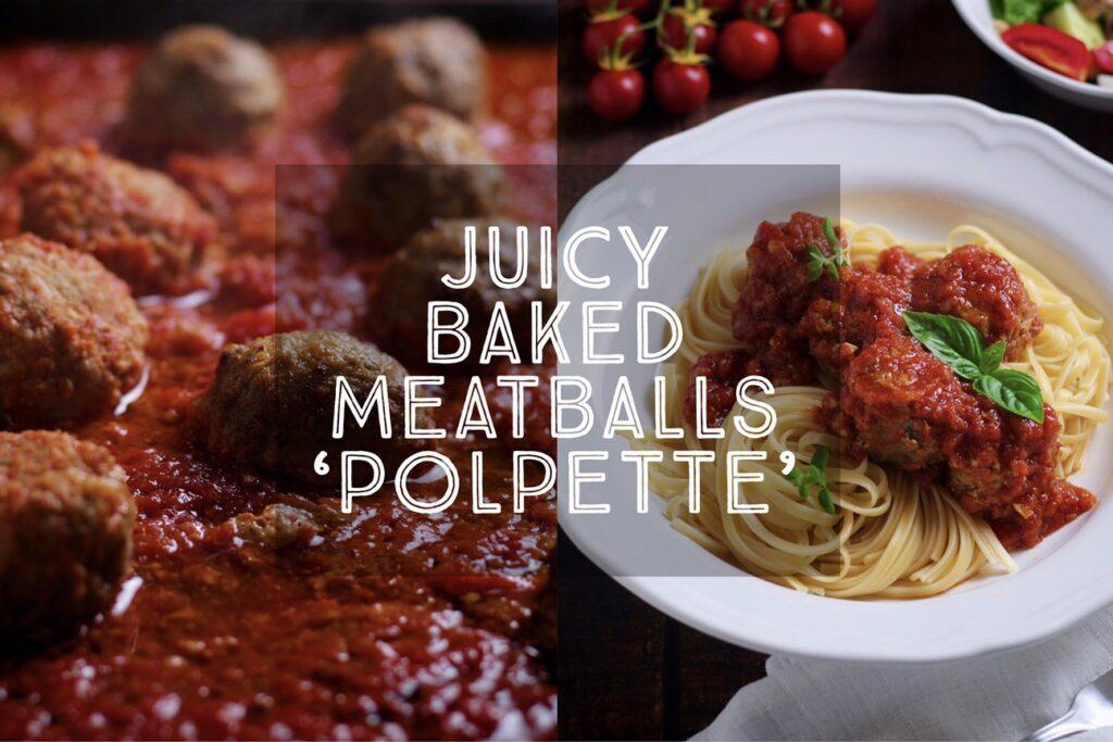 Juicy Baked Meatballs