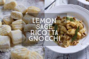 Lemon Sage Ricotta Gnocchi