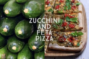 Zucchini and Feta Pizza
