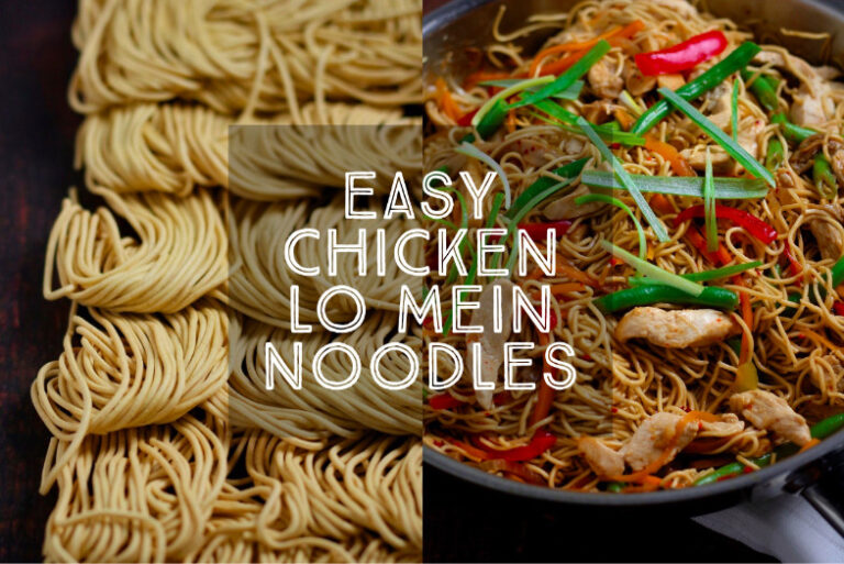 Easy Chicken Lo Mein Noodles 1