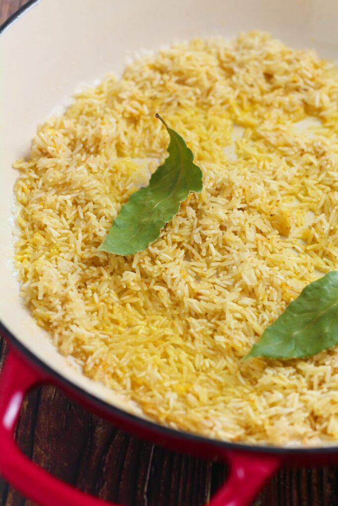 Rice for Chicken Biriyani