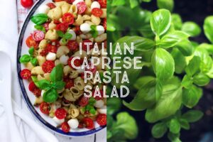 Italian Caprese Pasta Salad