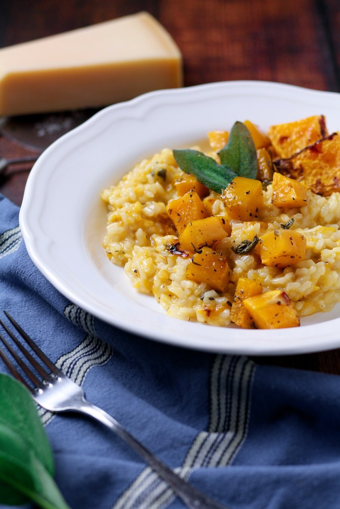 Pure comfort food, Butternut Squash and Sage Risotto or 'Risotto alla Zucca e Salvia' is a classic of the Italian kitchen. The combination of creamy risotto rice with sweet roasted pumpkin and fragrant sage is a match made in foodie heaven.
