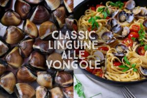 A classic of the Italian kitchen; Linguine Alle Vongole with fresh clams, sweet cherry tomatoes, garlic and olive oil will never go out of fashion. Perfect for long, Italian style lunches, or a romantic dinner for two. Bon Appetit!