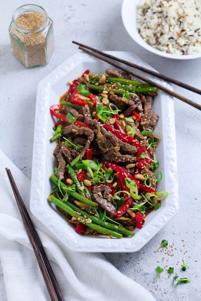 Full of punchy, invigorating flavours and loads of fresh veg, Ginger Beef Stir Fry is made in minutes and tastes incredible. Get all your ingredients prepped before you start cooking and you'll have dinner ready in a flash.