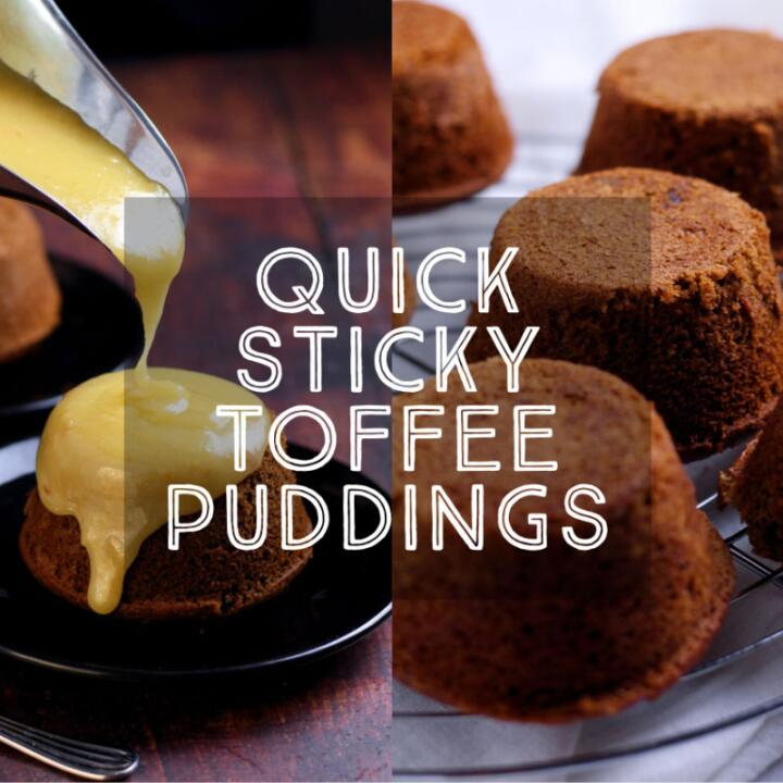 It must be nearly winter because I am craving Sticky Toffee Puddings. The magical transformation of dried dates into a luxurious pudding is what I call kitchen alchemy. Make one big pudding to share or bake in individual ramekins.