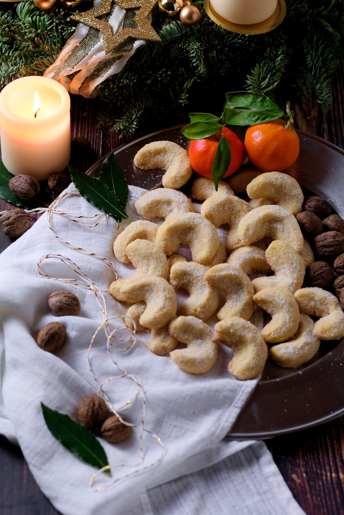 Christmas wouldn't be Christmas in Germany without the wonderful tradition of 'Plätzchen' - tins of mixed, homemade biscuits, all different and made with exceptional care. Possibly the most beloved of all are Vanillekipferl, crumbly, buttery crescents or moons.